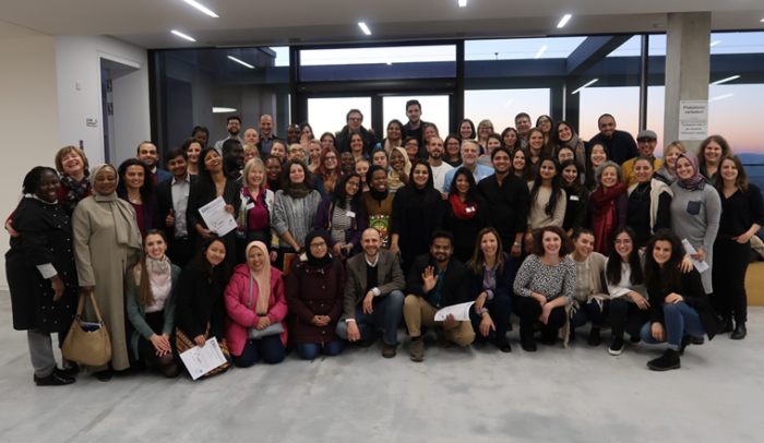 winter school participants in a group photo