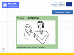 cartoon picture of a woman comforting another, with word empatia